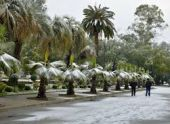 Январь порадовал жителей Абхазии снегом