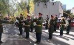 Российский военный оркестр поздравил ветерана в Абхазии